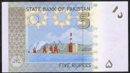 PAKISTAN   P53b  5  RUPEES    2009     UNC. - Pakistan