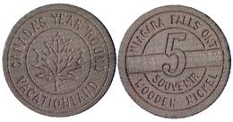 00415 GETTONE TOKEN JETON CANADA SOUVENIR NIAGARE FALLA ìONTARIO WOODEN - Jetons En Medailles