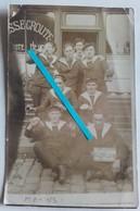 """1918 Marins Français En Bordée Marine """" Les Pingouins De 1918 """" Armistice Poilus 14 18 1WK WW1 Carte Photo - Guerra, Militari"""