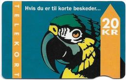 Denmark - Fyns - Parrot - TDFD007A (Cn. 3005) - 09.1993, 69.500ex, 20kr, Used - Denmark