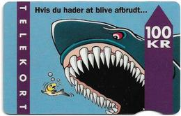 Denmark - Fyns - Shark - TDFD009C (Cn. 3202), 05.1994, 12.000ex, 100kr, Used - Denmark