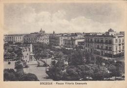 BISCEGLIE-BARI-PIAZZA VITTORIO EMANUELE-CARTOLINA VIAGGIATA IL 18-11-1949 - Bari