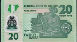 NIGERIA  P34r 20 NAIRA 2018.  UNC. - Nigeria