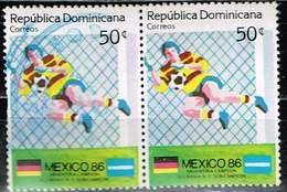 Dominikanische Republik 1986,Michel# 1506 O Soccer World Championship, Mexico - Dominikanische Rep.
