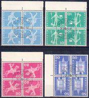 Schweiz Suisse 1960: Kehrdruck Tete-bêche Zu+Mi K45-K48 Im Block Mit O BASEL 26.VIII.65 (Zu CHF 10.00) - Tête-Bêche