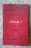 89 AVALLON CARTE DU MINISTERE DE L INTERIEUR 1897 - Geographical Maps