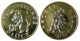 03628 GETTONE TOKEN JETON AUSTRIA LUCHY TOKEN NEW YEAR PROSIT NEUJAHR PLASTIC - Jetons En Medailles
