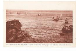 BELLE ILE EN MER (56) SAUZON Peche Aux Coquilles Saint Jacques - Belle Ile En Mer