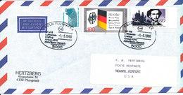 Germany Air Mail Cover First Lufthansa Flight LH 416 Airbus 310 Köln/Bonn - Newark 1-5-1990 - [7] Repubblica Federale