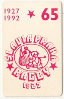 CZECHOSLOVAKIA(chip) - Slavia Praha Rugby 1927, Chip SC5, CN : 39911, Tirage %30500, 05/92, Used - Tchécoslovaquie