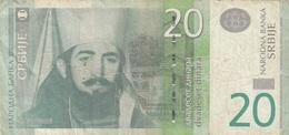 20 DINARA Banknote 2011, Umlaufschein - Jugoslawien