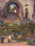 Casablanca Nouvelle Medina Jardin Public 2x Morocco Postcard S - Non Classés