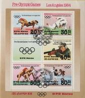 JO84-E/L3 - COREE DU NORD Bloc Obl. Jeux Olympiques De Los Angeles - Corée Du Nord