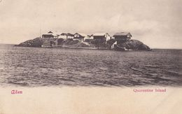 Quarentine Island Yemen Aden Antique Postcard - Arabia Saudita