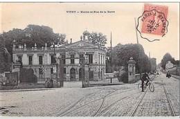 """Cachet Convoyeur """"Paris A Etampes 1905"""" Semeuse Frappe Superbe Indice=3 Cp Vitry 2 Scans - Railway Post"""