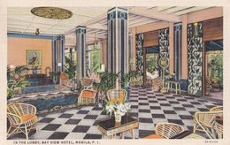 The Lobby At Bay View Hotel Manila The Philippines Old Postcard - Mundo
