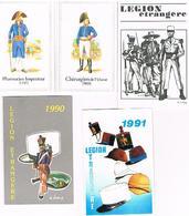 LOT5 CALENDRIERS  MILITAIRE ET LEGION 1990+1979+1991+19841989 - Calendars