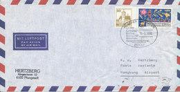 Germany Air Mail Cover First Lufthansa Flight LH 672 Boeing 747 München - Bangkok - Hong Kong 10-5-1986 - BRD