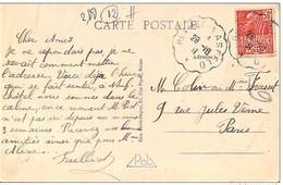 """Rare Cachet Convoyeur """"Rethel A Asfeld 1931"""" Indice=6 Cp Neufchatel Sur Aisne 2 Scans - Marcofilia (sobres)"""