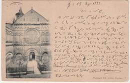 Carte Commerciale En Sténo 1899 / A. BONNAUD / Sténographe / 16 Cognac Charente / Sur CPA Eglise Saint-Léger Phototypie - Other