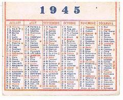 CALENDRIERS  2FACES 1945 - Calendars