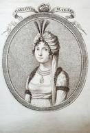Stampa D'epoca - Carlotta Haeser - Cantatrice - Secolo XVIII - Estampes & Gravures