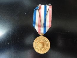 Médaille Des Cheminots RF Offert à L.Vergely En 1950 - Firma's