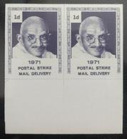 141.POSTAL STRIKE MAIL 1971 FAMOUS PEOPLE- MAHATMA GANDHI,LABEL CINDERELLA, FORGERY . MNH - Erinnophilie