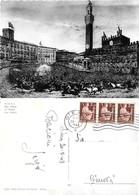 Siena. Il Palio (pittorica). Viaggiata 1949 - Siena