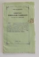Commentario Delle Leggi (Opera Compilata Dall'Avv. Edoardo Bellono), Torino 1866 - Decrees & Laws