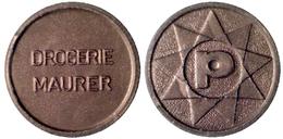 02478 GETTONE TOKEN JETON SWISSE SVIZZERA PARCHEGGIO PARKING DROGERIE MAURIER APOTHEKE 1970-90 - Jetons En Medailles