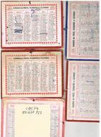 5 CALENDRIERS Carton 2faces 135x105  1952+1953+1954+1955+1956 - Small : 1941-60