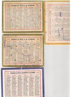 4 CALENDRIERS Carton 2faces 135x105  1949+1948+1938+1936 - Small : 1941-60