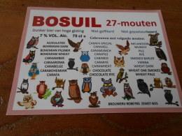 ETIQUETTE BIERE BOSUIL 27 MOUTEN - Bière