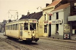 REPRODUCTION TRAM MONS LIGNE 7 QUAREGNON BOUSSU DOUR QUIEVRAIN WIHERIES Cafe Biere Caulier Martini - Trains