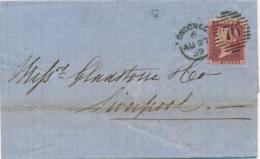 UK - 1859 - 1P Queen Victoria - P14 - Letters S-G On Complete Folded Letter Van London/76 Naar Liverpool - 1840-1901 (Regina Victoria)