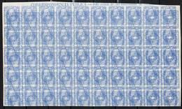 España 107 M   Raro Bloque De 50 Sellos  - 50 C  Alegoria. 1870 Doble Impression. Maculatura. - Ungebraucht