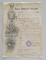 Regio Esercito Italiano, Distretto Militare Di Treviso - Foglio Di Congedo Assoluto 1918 - Historical Documents
