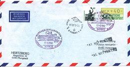 Germany Air Mail Cover Lufthansa Flight LH 4271 Boeing 737 München - Bari 17-5-1992 - [7] Repubblica Federale