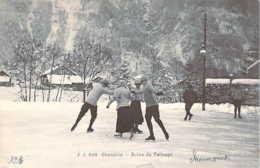 74 Haute-SAVOIE Scène De Patinage Sur Glace à CHAMONIX Figure à 2 Couples - Chamonix-Mont-Blanc