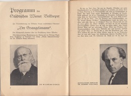 PROGRAMM Der STÄDTISCHE WIENER VOLKSOPER 1941, TOSCA, 15 Seiten, Und Zusatzblatt, Größe Ac. 21 X 15 Cm - Programma's