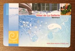 MARTINIQUE HÔTEL DE LA GALLERIE CARTE PASSMAN SÉMINAIRE WIFI WI FI INTERNET PRÉPAYÉE PREPAID PAS TÉLÉCARTE PHONECARD - Antilles (French)