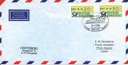 Germany Air Mail Cover Lufthansa Flight LH 5496 DH 8 - 100 München - Pisa 29-3-1992 - [7] Repubblica Federale
