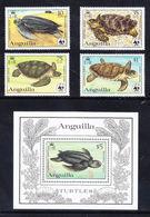 Anguilla 1983 MiNr. 541a - 544a (Block 49) Marine Life  WWF Turtles 4 V + S/sh  90,00 € - W.W.F.