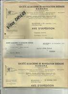 68 - Ht.Rhin - Mulhouse -Facture Sté.SANARA - Transport Par Eau -Navigation - Péniches - Bateaux - Réf.41 . - France