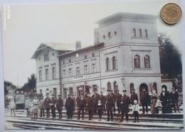 Fürstenberg/Oder, Alter Bahnhof Um 1900, Reprint - Fuerstenberg