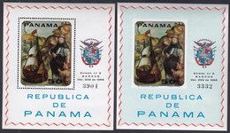 Panama 1968 / Paintings Of Sailing Ships Of The 17th To 19th Century / MNH, Mi BL 90 A+B - Schiffe
