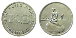 02063 GETTONE TOKEN JETON FICHA TRASPORTI TRANSPORT TRANSIT DENMARK COPENAGHEN TRAM 1966-1967 - Jetons En Medailles