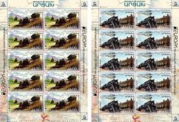 Artsakh - Armenia - Nagorno Karabakh 2020 Mi 218-219 Europa 2020 Ancient Postal Routes Train And Mail Coach MNH** - Armenia