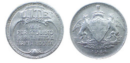 03396 GETTONE JETON TOKEN TRASPORTO TRANSIT TRAM GENOVA UITE 1944 XXII - Italie